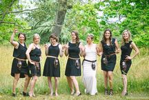 // Ombre and bridesmaids who look awesome without matching // / we've compiled this board featuring awesome bridal parties who wear varying shades of the same color or different colors entirely. every girl is then happy with her dress and the wedding photos look amazing! all photos by funkytown wedding photographers Victoria bc