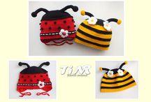 Animals crochet hats / Háčkované čepičky