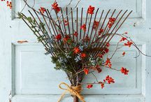Holiday Decorating / Holiday decor and entertaining ideas for a rustic elegant holiday inspired by nature. Inspiration and ideas for interior design, styling, still life, props, photography, creative, texture, ideas, food, photos, home decor. Flowers, florals, geometric, boho, lived in, rustic, textiles, modern, abstract, muted colors, classical. Christmas, weddings, wedding, table scape, styling, table settings, lighting, bar, cocktails, florals