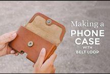 DIY PHONE POUCHES