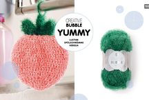 Creative Bubble / Creative Bubble - das innovative Garn zum Häkeln stylisher Spülschwämme!