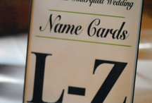 Placecards / Event direction and signage for guests