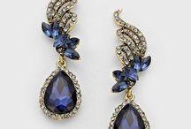 #cute Crystal Tiffany Earrings in Sapphire