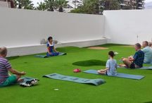 Yoga / Hacemos semanalmente sesiones de Yoga en el Spring Hotel Vulcano / We offer weekly Yoga sessions at our Spring Hotel Vulcano