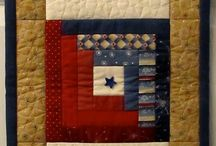 Quilt Log cabin quilts / Quilting