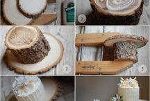 Rustic wedding / center pieces, decor,