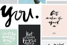 TYPE / Brush lettering, calligraphy, art, type, quotes