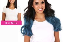 Tape In Hair Extension Transformations / Before and after Tape In Hair Extension Transformations
