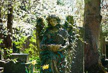 Angeles y demonios / estauas de angeles, cementerios, demonios