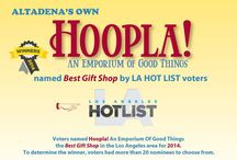 Hoopla! -- Retail Host / Hoopla! Emporium, on Fair Oaks Ave., in Beautiful Altadena, is owned by Lori and Scott Webster, whose  business philosophy of giving back informs everything they do. Their mantra is to be of service - to their customers, to the community, to the world. How? By offering primarily locally and ethically sourced merchandise from local/fair trade artisans at a reasonable price....  Get Hip To Hoopla!
