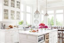 white neutral interiors / by Tereasa Hail