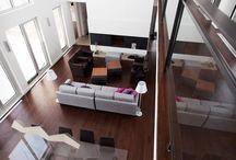 FOYERS | FIREPLACES / Nos foyers intégrés à l'environnement contemporain.  Our fireplaces mixed with the modern environment.