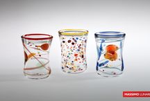 Glasses Massimo Lunardon / glasses blown glass made in italy