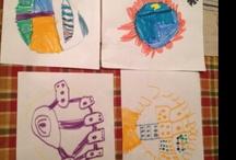 kiddo art work is outta dis world / by Mitzi James