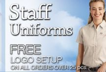 Custom Staff Uniforms | Embroidered Jackets | Logo Shirts / Embroidered Staff Uniforms for all occupations. American Made business apparel since 1989. Getting great company clothing is EZ, with free samples and