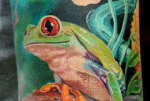 Tattoos with Frogs