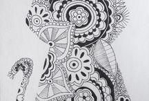 mandala y dibujos