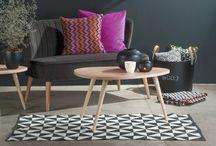 Inspirasjon: Interiør / interior, tepper, puter, vaser, interiør, pynt, lamper,fat, bord, vedoppbevaring, skap