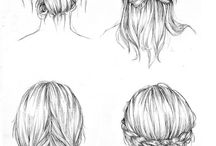 dibujos de cabellos