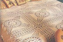 couvre lit au crochet