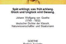 Goethe - Zitate / Zitate für jeden Tag