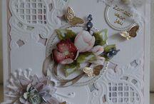 Schuine bloemenkaart