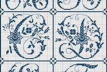 Alphabets and Monograms / A collection of cross stitch, embroidery, and needlepoint letters