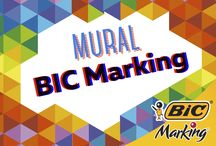 Mural BIC Marking / ¡El primer mural colaborativo hecho con marcadores en el mundo!