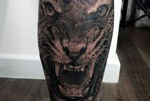 Tattoo Man Leg