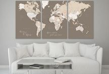 ~ Multi panel world maps with cities and capitals