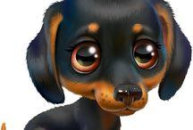 собаки рисунок