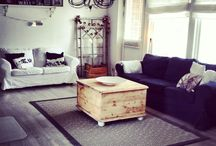 Tiny house for a big family / 2 adults and 4 children sharing small spaces in northern Sweden. Loving black& white colours and mixes industrial style with shabby chick.