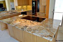 Private Home - Delray Beach / Kitchen countertops material: Solarius Granite 3cm
