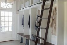 Floor to ceiling shelving