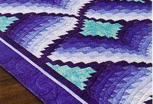 Bargello quilt pattern Барджелло квилт