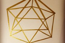 DIY Wall Art Washi Tape / DIY wall paintings, washi tape, paper tape, wall design, geometric forms, wandbild, wall art, masking tape, washi