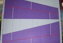 両斜めの立体カードの図案