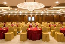 Convention Centre & Party Halls / This board contains conference rooms and party halls of Shenbaga Hotel and Convention Centre in Pondicherry