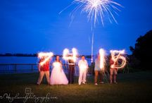 Wedding Sparklers / Dazzle your friends by light writing with sparklers! Sparklers aren't just for the Fourth of July.