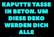 Beton- Deko
