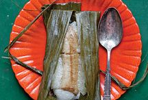 Cookin with banana leaves / Banana leaves are a necessity in the kitchen. Everything comes out moist and delicious.