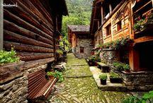 Alagna Valsesia / Il paese dei walser ai piedi del Monte Rosa