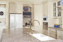 bainbrook brown w/off white cabinets