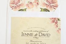 """Vintage forever"" / The vintage style is classic and timeless. This wedding invitation & stationery design has beautiful floral prints and soft lace backgrounds. (Colours and text are customisable)  Items available in this design:  ♥  Wedding Invitation  ♥  E-Invite (for email)  ♥  Menu  ♥  Name card  ♥  Program for the day  ♥  Save the Date - HTML for email  ♥  Seating plan  ♥  Table number  ♥  Thank you card"