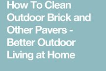 Cleaning pavers