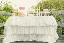 Shabby Chic Inspired Party / Shabby Chic is the perfect theme for a housewarming, baby or bridal shower, birthday party or luncheon.  Warm colors and vintage decor set the tone for a beautiful affair!