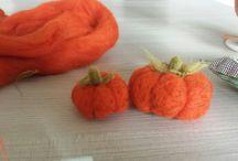 Fai da te o da me? / zucche halloween in Lana cardata! pupking halloween felt wool