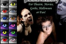 Popular FX Contact Lenses / Popular FX Contact Lenses - vampire,were-wolf, cat-eye, zombie contacts, and more. Wear for Halloween, costume parties, raves, movies, on stage, or just for fun.