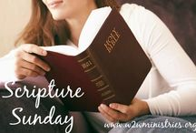 Scripture Sunday / Scripture and inspiration for your Sundays. / by Woman to Woman Ministries