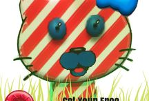 Candy Cane Candy Cat / Get your FREE paper Candy Cat! LIKE us here and send us a message! bit.ly/candycat